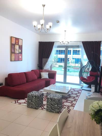 1 Bedroom Apartment for Rent in Dubailand, Dubai - Large furnished apartment on Park level with terrace on monthly basis