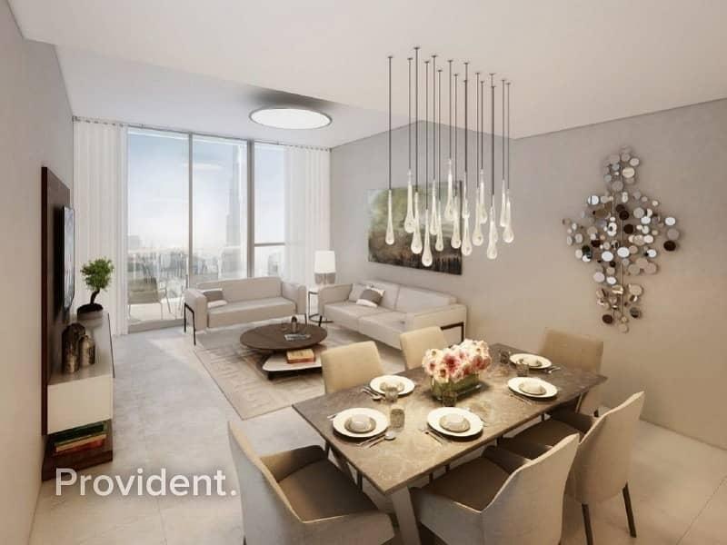 Elagantly Designed with Terrace Burj Khalifa View