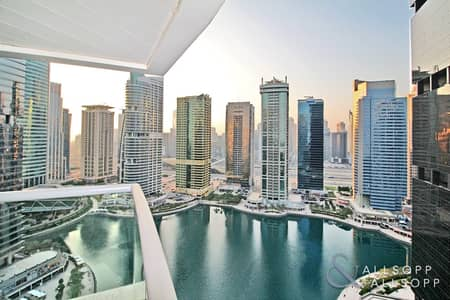 شقة 1 غرفة نوم للبيع في أبراج بحيرات الجميرا، دبي - 1 Bed + Study | Full Lake Views | Bright