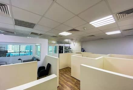 Office for Sale in Jumeirah Lake Towers (JLT), Dubai - Fitted office I SZR view I Ready to move in