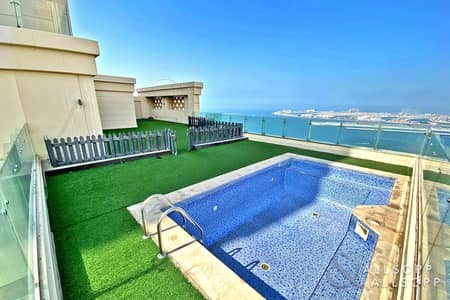 4 Bedroom Penthouse for Sale in Jumeirah Beach Residence (JBR), Dubai - Massive Terrace/Swimming Pool l 6