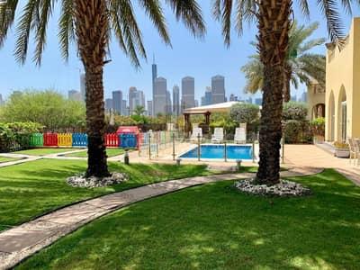فیلا 4 غرف نوم للايجار في جزر جميرا، دبي - Upgraded Garden Hall Lake and Skyline View