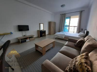 Studio for Rent in Al Quoz, Dubai - Spacious and Bright Fully Furnished Studio Pool view For Rent 32K Only