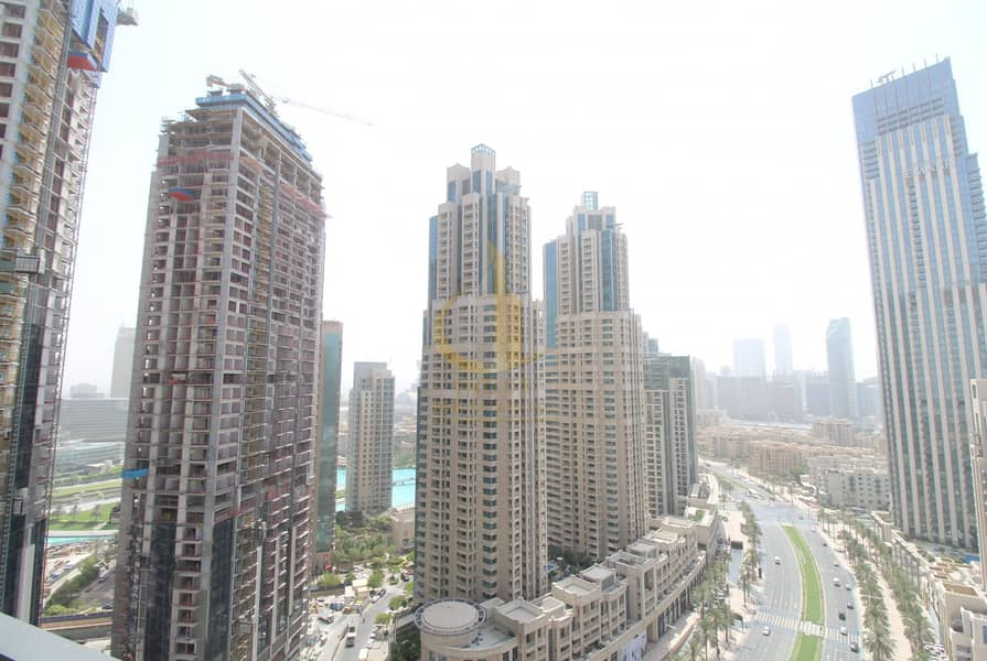 Boulevard Crescent Partial  Burj View Down 3BR + M For Rent