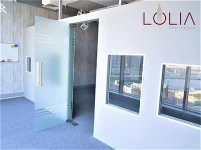 مکتب  للايجار في الخليج التجاري، دبي - Fitted Office w/ Canal View | Unfurnished | Multiple Option