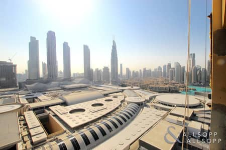 1 Bedroom Apartment for Sale in Downtown Dubai, Dubai - Partial Fountain View | Hotel Pool | 1 Bed