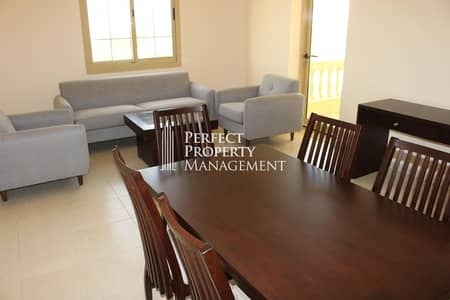 شقة 3 غرف نوم للايجار في قرية ياسمين، رأس الخيمة - Very nice furnished 3 BHK Apartment with complete lake view for rent in Yasmin Village
