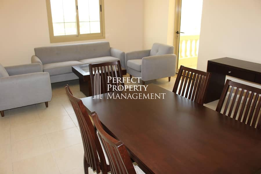 Very nice furnished 3 BHK Apartment with complete lake view for rent in Yasmin Village