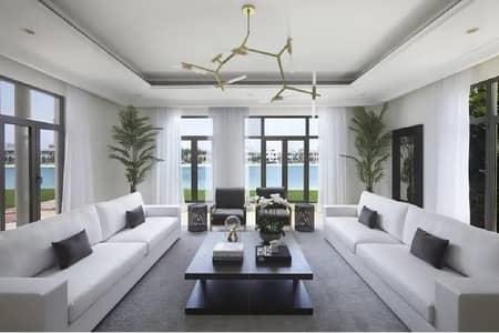 6 Bedroom Villa for Rent in Palm Jumeirah, Dubai - Designer Palm Beach Villa