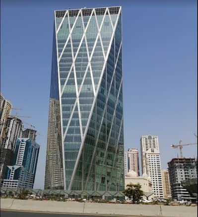 Office for Rent in Al Taawun, Sharjah - 1,000 Sq ft, Fully Fitted & Furnished  Office in City Gate Tower Ready To Move In