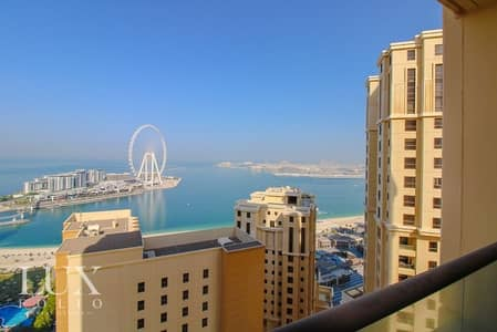 2 Bedroom Apartment for Rent in Jumeirah Beach Residence (JBR), Dubai - Amazing Sea Views | Vacant | Unfurnished