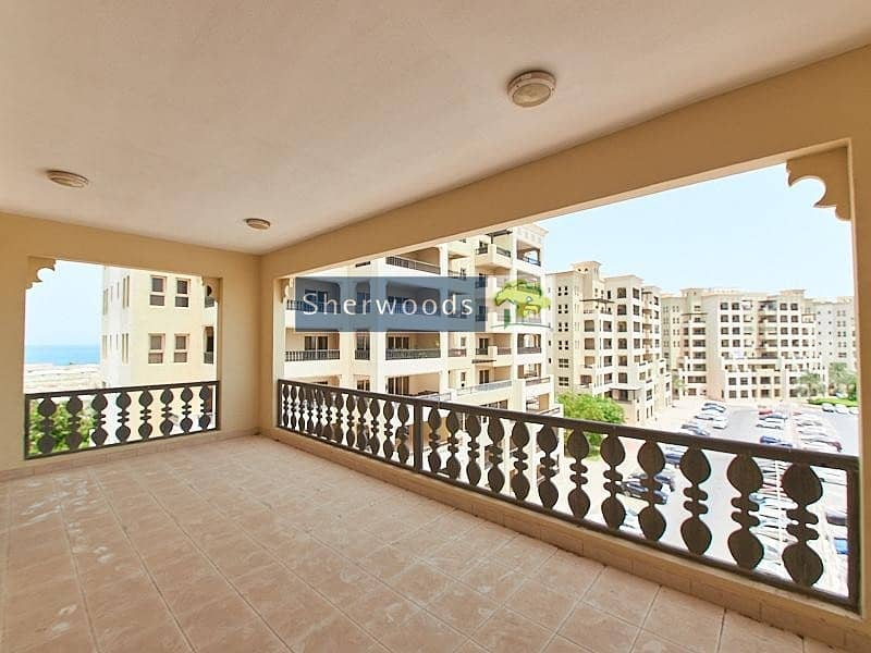 Large Balcony - 3 Bedroom plus Maids Room- Corner Unit