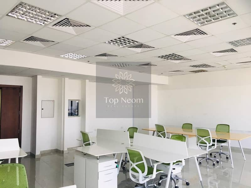 Fully Fitted & Furnished High Floor Office with Best Views of Skyline & Sea