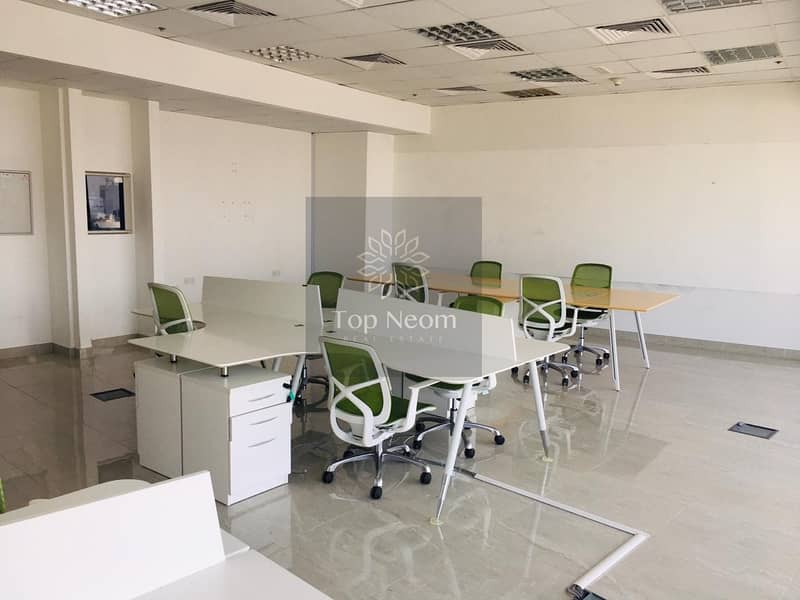 2 Fully Fitted & Furnished High Floor Office with Best Views of Skyline & Sea