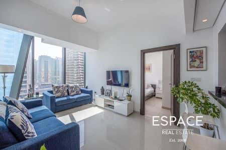 شقة 1 غرفة نوم للايجار في دبي مارينا، دبي - High Floor - Unfurnished - 1 Bedroom