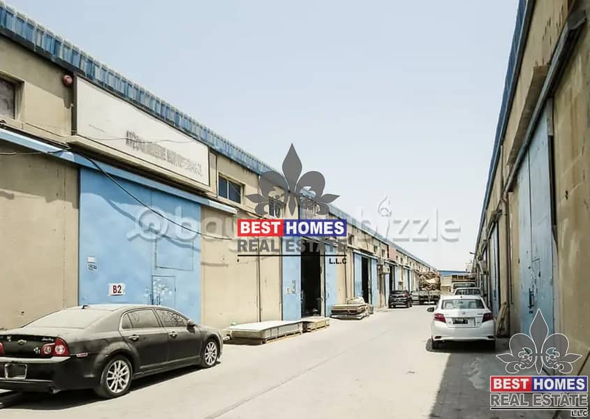 2 Good location! Warehouse for rent in Ajman Industrial 1