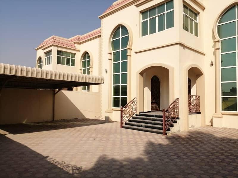 Amazing Offer 5-Bedroom Villa just 75k 5000 sqft ,5 master rooms +maid room for rent in Al Rawda Ajman