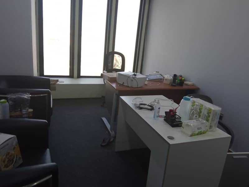 2 Furnished Office | Ideally Located |Top Floor | Chiller Dewa Wifi Free