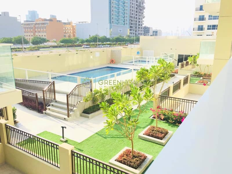 Elegant 1 BR Apt. with Big Balcony | Pool View | 1 Month Free | Laval Residence