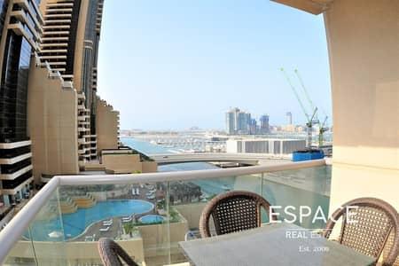 فلیٹ 2 غرفة نوم للايجار في دبي مارينا، دبي - Modern| Partially Furnished| Chiller Free