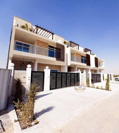 فیلا 4 غرف نوم للبيع في الزاهية، عجمان - فيلا تصميم فخم على الشارع تكييف مركزي ثلاث طوابق