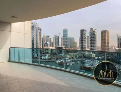 3 Bedroom Apartment for Sale in Dubai Marina, Dubai - LARGEST 3B/R PLUS MAID|FULL MARINA & SEA VIEW