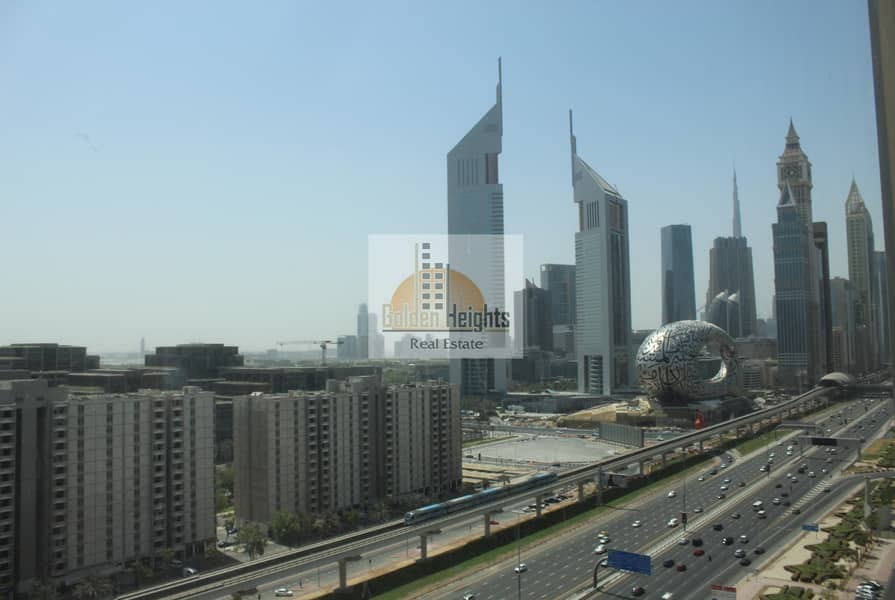 Fitted full floor along Sheikh Zayed Road