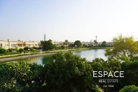 فیلا 2 غرفة نوم للايجار في الينابيع، دبي - Full Lake View    Available Now   Type 4E