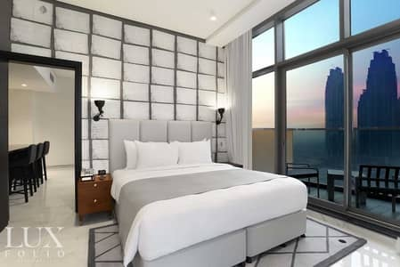 شقة 1 غرفة نوم للايجار في الخليج التجاري، دبي - Fully Serviced Hotel Apartment | Multiple Cheques