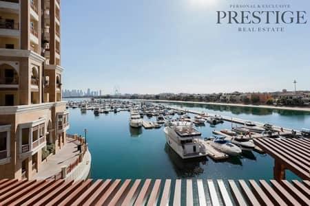 استوديو  للايجار في نخلة جميرا، دبي - Studio | Marina View | Furnished | Pool Access