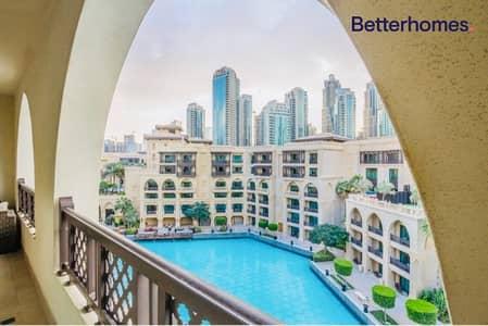 شقة 2 غرفة نوم للايجار في وسط مدينة دبي، دبي - Largest Terrace I Fountain and Burj View