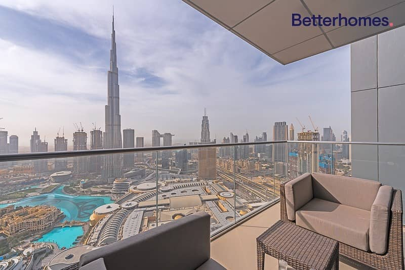 2 Burj Khalifa View| Ready now| High Floor|