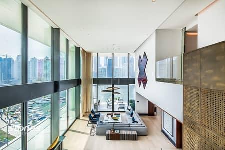 شقة 4 غرف نوم للبيع في الخليج التجاري، دبي - First of its Kind   Four-Bed Duplex   Serene View