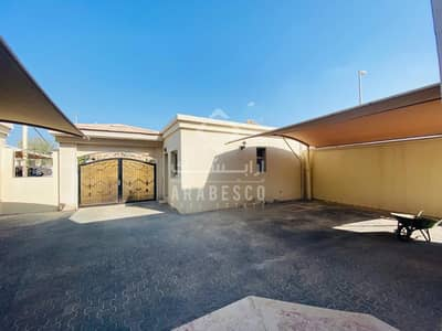 8 Bedroom Villa for Rent in Abu Dhabi Gate City (Officers City), Abu Dhabi - PREMIUM 8 BEDROOM  STONE FINISH VILLA WITH 2 BIG MAJLIS AND OUTSIDE KITCHEN  IN GATE CITY