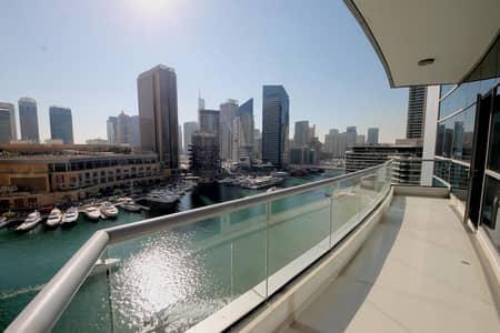 شقة 1 غرفة نوم للايجار في دبي مارينا، دبي - Large Layout | Free Chiller | Marina View