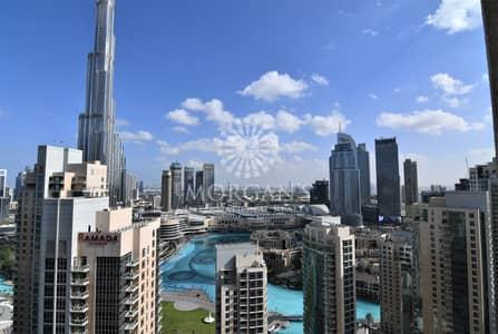 فلیٹ 2 غرفة نوم للايجار في وسط مدينة دبي، دبي - Vacant High Floor Burj Khalifa View 2 BR