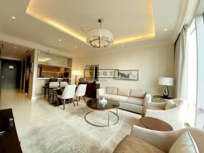 شقة 1 غرفة نوم للايجار في وسط مدينة دبي، دبي - LUXURY/FULL FOUNTAIN  AND BURJ KHAIFA VIEW