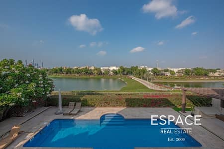 6 Bedroom Villa for Rent in The Meadows, Dubai - Lake View - Upgraded Kitchen - Meadows 6