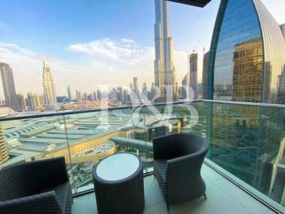 2 Bedroom Flat for Rent in Downtown Dubai, Dubai - 2 BR   All Bills Inc   Burj Khalifa View