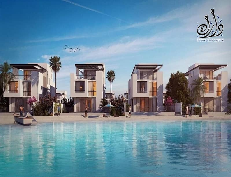 2 Own amazing sea villa in the heart of Shams Island | Installments up to four years