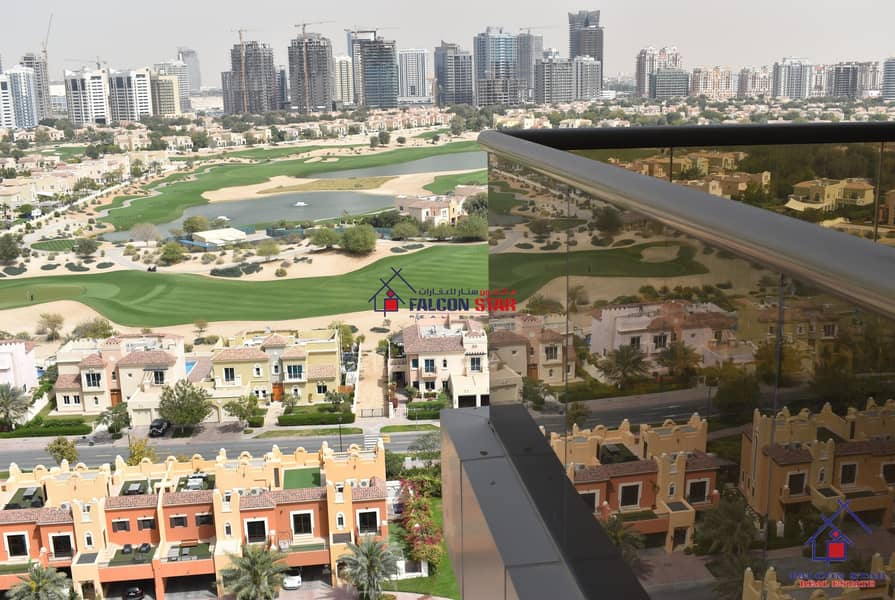 FULL GOLF COURSE AND POOL VIEW - FULLY FURNISHED 2 BEDROOM - BIGGEST LAYOUT