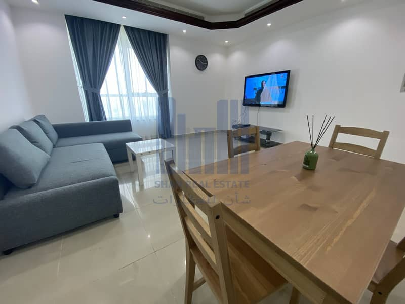 WIFI | Fully Furnished | 1 BHQ | Corniche | For rent Monthly