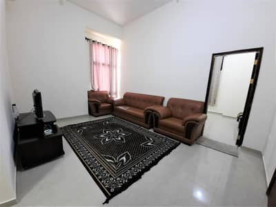 1 Bedroom Flat for Rent in Khalifa City A, Abu Dhabi - Affordable Sanitized Furnished Ground Floor One Bedroom with Spacious Hall