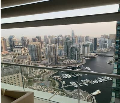 3 Bedroom Apartment for Sale in Dubai Marina, Dubai - Full Marina View Higher Floor View 3BR Furnished