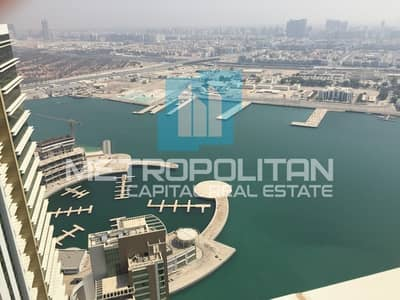 1 Bedroom Apartment for Sale in Al Reem Island, Abu Dhabi - Vacant Now! Stunning Unit In High Floor|Sea View