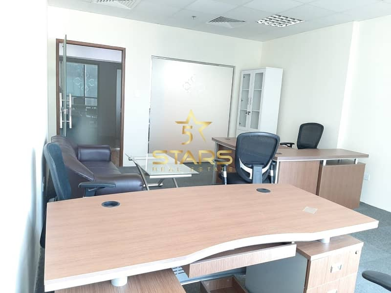 Independent Office | No Commission | Ejari | Fully Furnished | Near to Metro