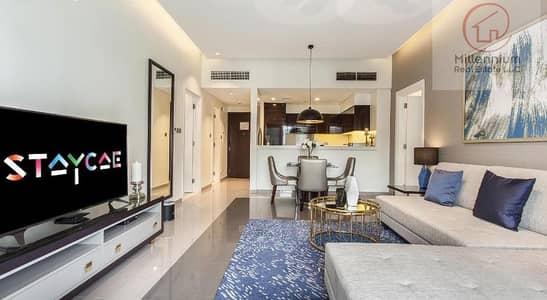 شقة فندقية 1 غرفة نوم للايجار في الخليج التجاري، دبي - one bedroom apartment for rent in MAJESTINE