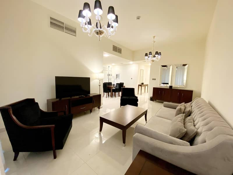 2 Elegant  Fully Furnished 2 BHK Apartmentwith Maids Room