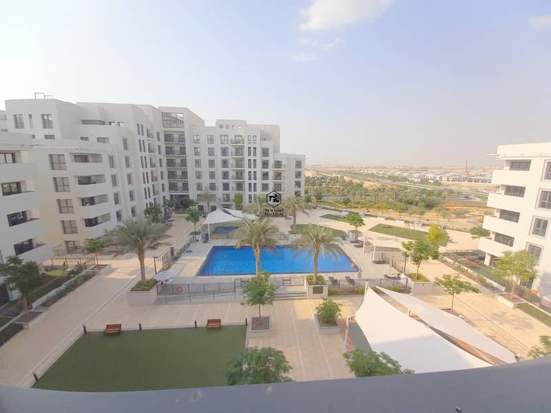 25 BIGGEST LAYOUT | POOL VIEW | 2 BED ROOM | LONG BALCONY | ZAHRA APARTMENT | TOWN SQUARE