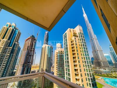 2 Bedroom Flat for Sale in Downtown Dubai, Dubai - Immaculate | Mid floor | Burj and Fountains view